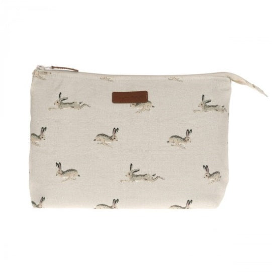 ALL25515 Sophie Allport Canvas Wash Bag Large Hare