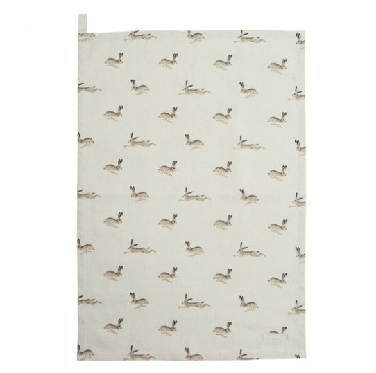 ALL25601 Sophie Allport Tea Towel Hare