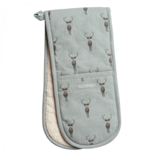 ALL29100 Sophie Allport Double Oven Glove Highland Stag