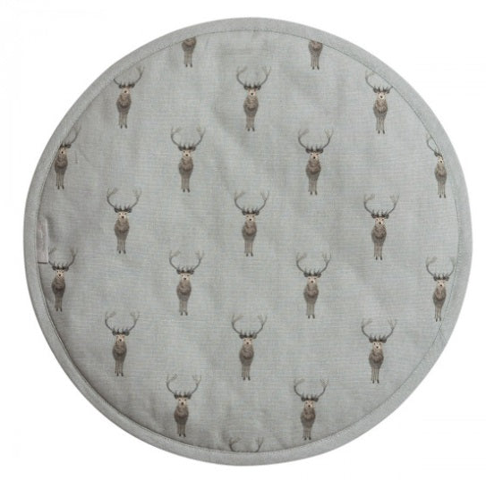 ALL29175 Sophie Allport Circular Hob Cover Highland Stag