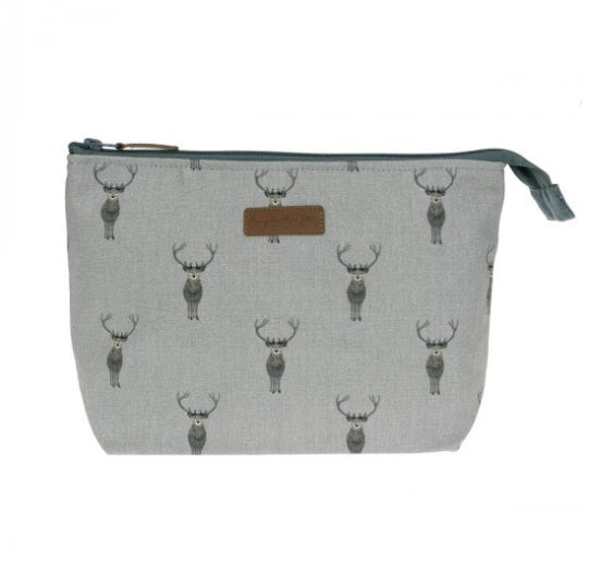 ALL29515 Sophie Allport Canvas Wash Bag Large Highland Stag