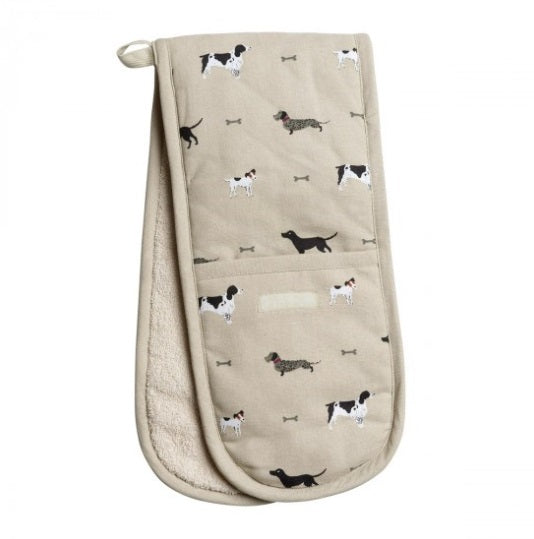 ALL32100 Sophie Allport Double Oven Glove Woof