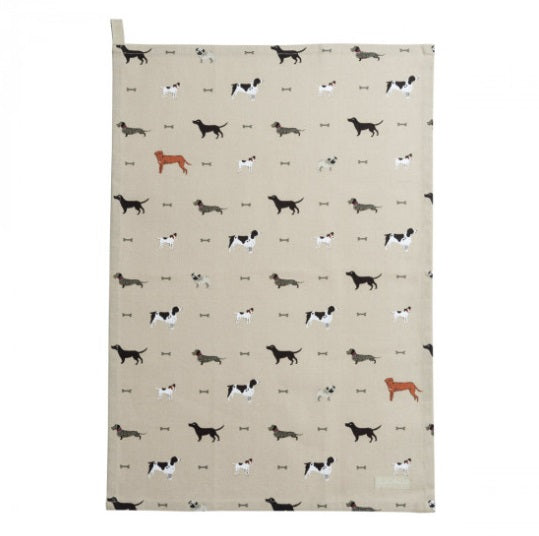 ALL32601 Sophie Allport Tea Towel Woof