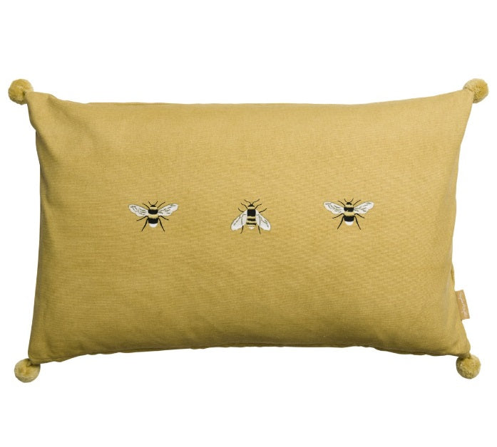 ALL3640IE Sophie Allport Bees Embroidered Cushion