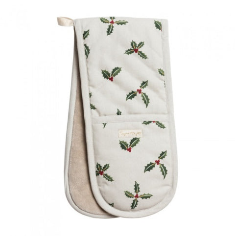 Sophie Allport ALL50100 Double Oven Glove Christmas Holly & Berry