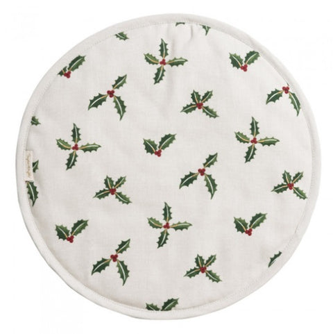 Sophie Allport ALL50175 Circular Hob Cover Christmas Holly & Berry