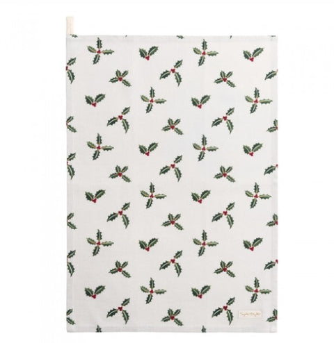 Sophie Allport ALL50601 Tea Towel Christmas Holly & Berry