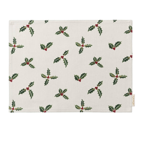 Sophie Allport ALL50820 Fabric Placemat Christmas Holly & Berry