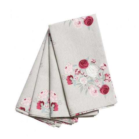 ALL56300 Sophie Allport Peony Napkins (Set of 4)