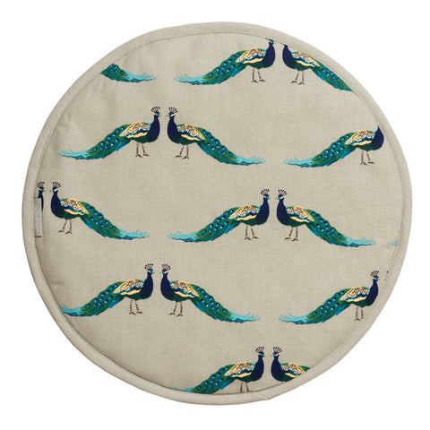 ALL64175 Sophie Allport Peacocks Circular Hob Cover