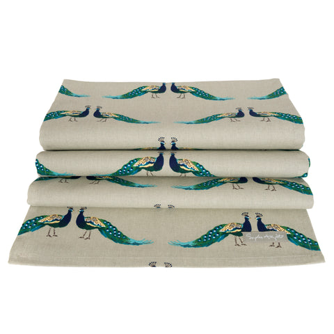 ALL64810 Sophie Allport Peacocks Table Runner