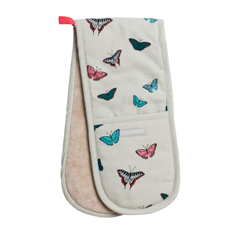 ALL66100 Sophie Allport Butterflies Double Oven Glove