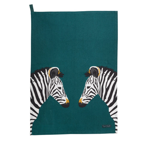 ALL67601S Sophie Allport Zebra ZSL Scene Tea Towel