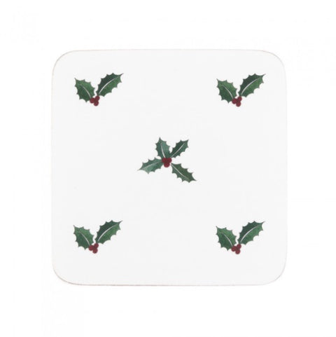 Sophie Allport COC5001 Coasters (set of 4) Christmas Holly & Berry