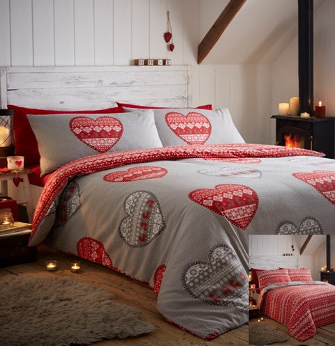 Portfolio Home Christmas Boden 100% Cotton Flannelette Duvet Set