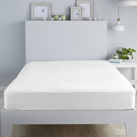 Fusion Brushed Cotton White Sheets