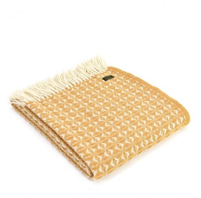 Tweedmill Cob Weave English Mustard Throw