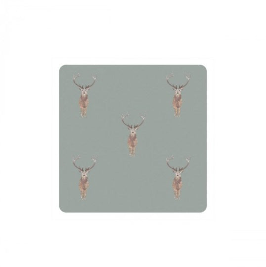 COC2901 Sophie Allport Coasters Set Of 4 Highland Stag