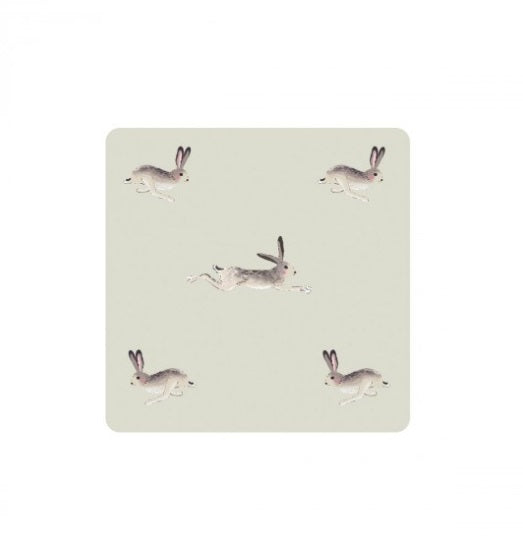 COCHA01 Sophie Allport Coasters Set Of 4 Hare