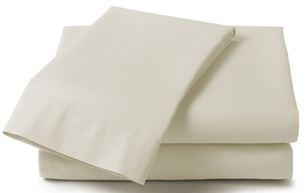"Extra Large Percale Pillowcase Pairs 22"" x 31""  Cream"