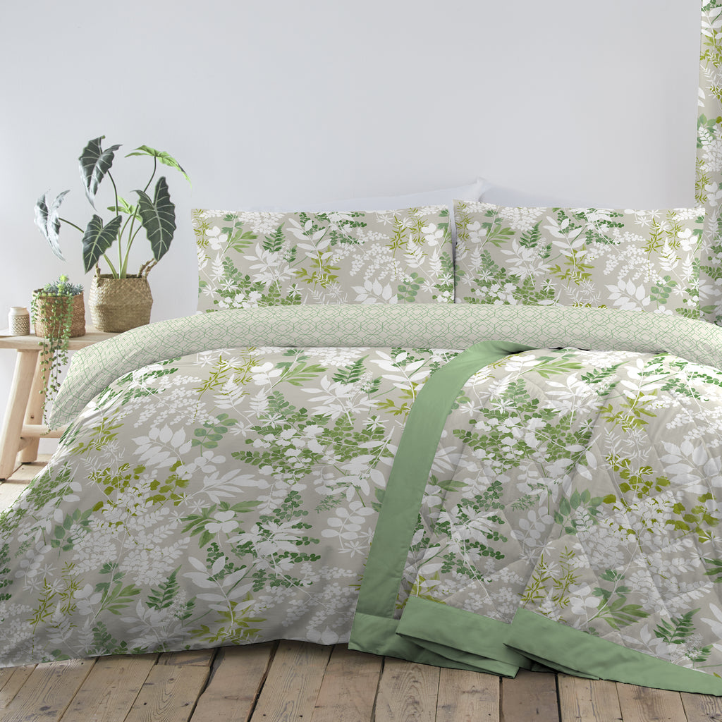 Dreams N Drapes Delamere Green Duvet Set