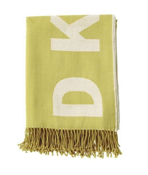 DKNY Engineered Ochre 127cm x 152cm Throw