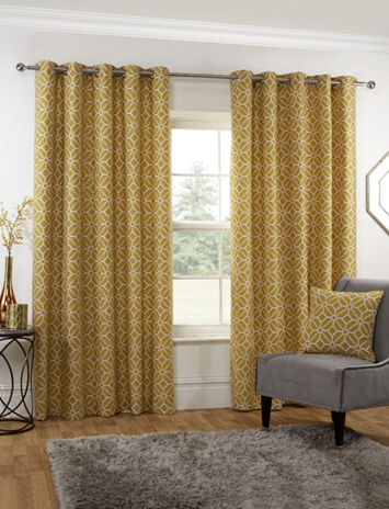Sundour Kelso Eyelet Lined Curtains