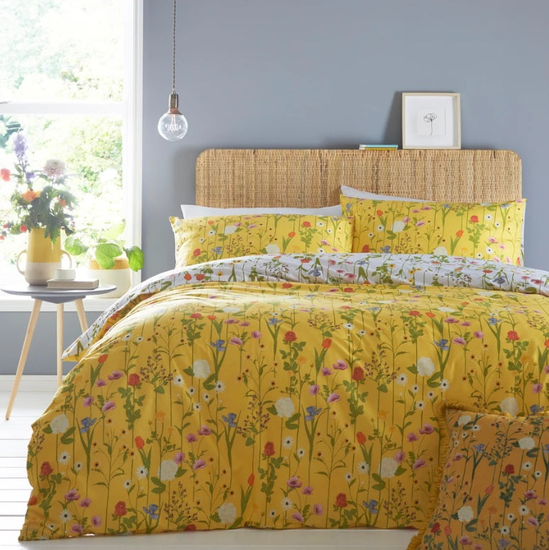 Furn Fleura Yellow Bedding