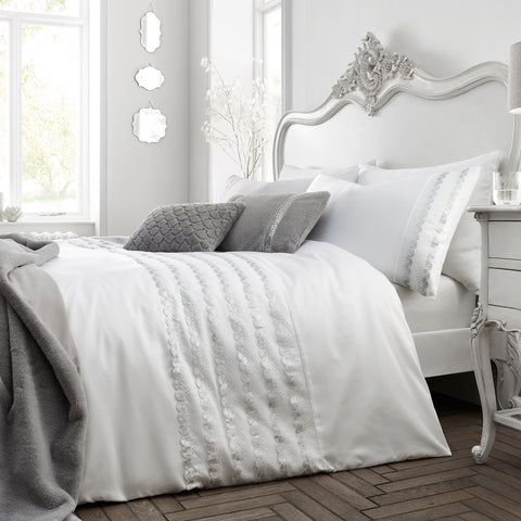 By Caprice Home Garbo White Duvet Set