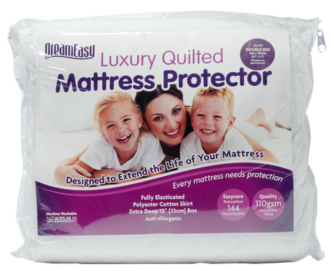 Dreameasy 110gsm Quilted Mattress Protectors