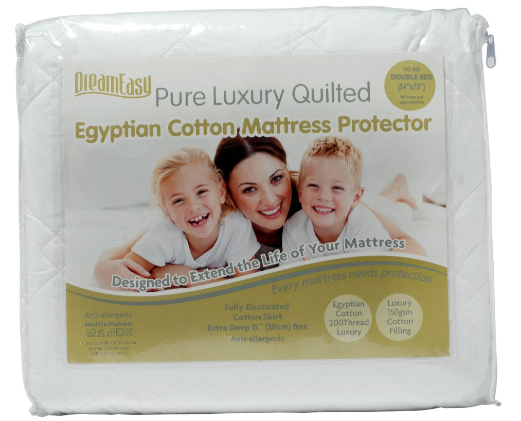 Dreameasy Egyptian Cotton Mattress Protectors