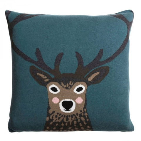 KSC2950 Sophie Allport Knitted Statement Cushion Highland Stag