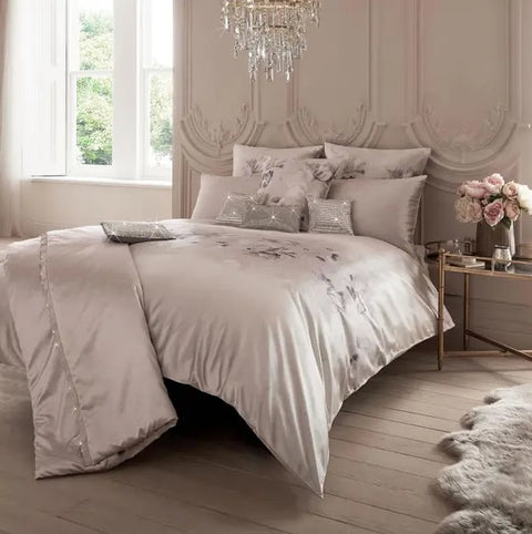 Kylie Minogue Luciana Blush Bedding (*ONE FREE PILLOWCASE PAIR WITH EVERY DUVET COVER)