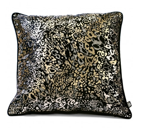 Laurence Llewelyn Bowen Animal Black 43cm x 43cm Square Cushion