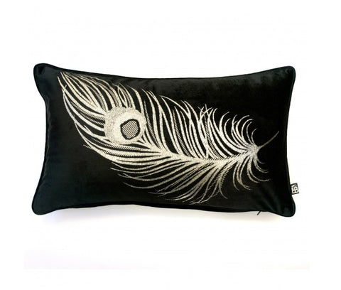 Laurence Llewelyn Bowen Dandy Black 30cm x 50cm Boudoir Cushion