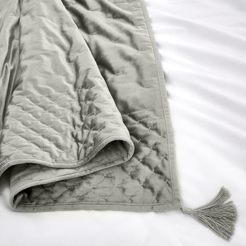 By Caprice Home Loren Silver 150cm x 220cm Bedspread Throw