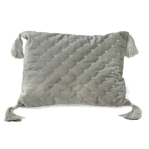 By Caprice Home Loren Silver 30cm x 40cm Boudoir Filled Cushion