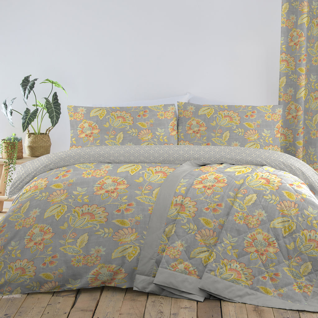 Dreams N Drapes Marinelli Floral Multi Duvet Set