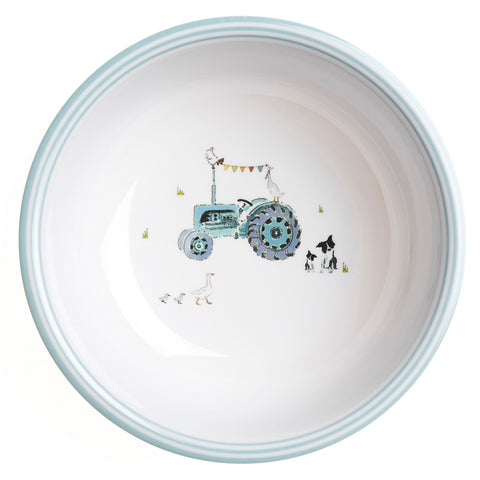 MBL24142 Sophie Allport On the Farm Children`s Melamine Bowl