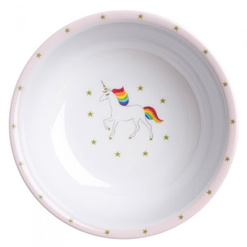 MBL55142 Sophie Allport Unicorns Childrens Melamine Bowl