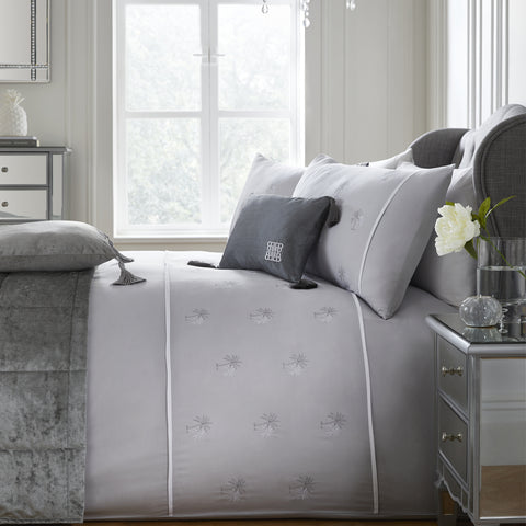 Laurence Llewelyn Bowen Midnight at the Oasis Grey Duvet Set