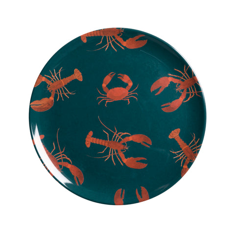 MPL6808 Sophie Allport Lobster Adult Melamine Side Plate