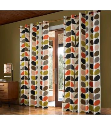 Multi Stem Multi Eyelet Curtains by Orla Kiely