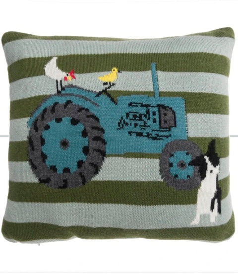 KSC24410 Sophie Allport On the Farm Knitted Statement Cushion with Pocket