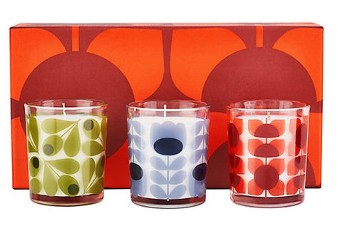 Orla Kiely Candles Square Flower Mini Gift Set