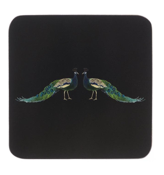 COC6401 Sophie Allport Peacocks Coasters (set of 4)