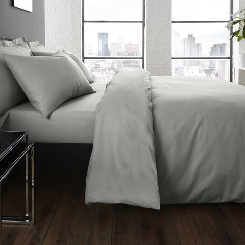 Serene Plain Dye Grey Duvet Set
