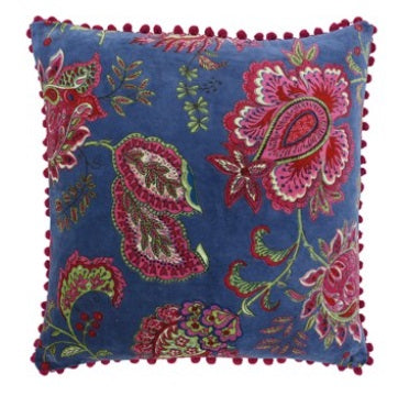 Riva Paoletti Malisa Smoke Blue 50cm x 50cm Cushion