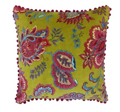 Riva Paoletti Malisa Lemon Curry 50cm x 50cm Cushion