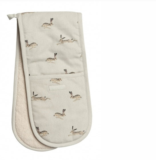 ALL25100 Sophie Allport Double Oven Glove Hare